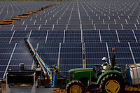 Bokhol solar power plant where 75600 solar panels cover<br />