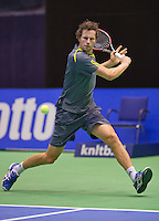 December 189 2014, Rotterdam, Topsport Centrum, Lotto NK Tennis, Jasper Smit (NED)<br /> Photo: Tennisimages/Henk Koster