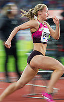 22 AUG 2013 - STOCKHOLM, SWE - Meghan Beesley of Great Britain races from the start of the women's 400m hurdles during the DN Galen meet of the 2013 Diamond League at the Stockholm Olympic Stadium in Stockholm, Sweden (PHOTO COPYRIGHT © 2013 NIGEL FARROW, ALL RIGHTS RESERVED)