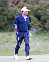 Sunday 31st May 2015; Graeme McDowell, Northern Ireland, heads up the 18th fairway<br /> <br /> Dubai Duty Free Irish Open Golf Championship 2015, Round 4 County Down Golf Club, Co. Down. Picture credit: John Dickson / DICKSONDIGITAL