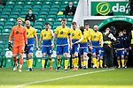 Celtic v St Johnstone…12.05.21  SPFL Celtic Park<br />Jason Kerr leads the saints players out<br />Picture by Graeme Hart.<br />Copyright Perthshire Picture Agency<br />Tel: 01738 623350  Mobile: 07990 594431