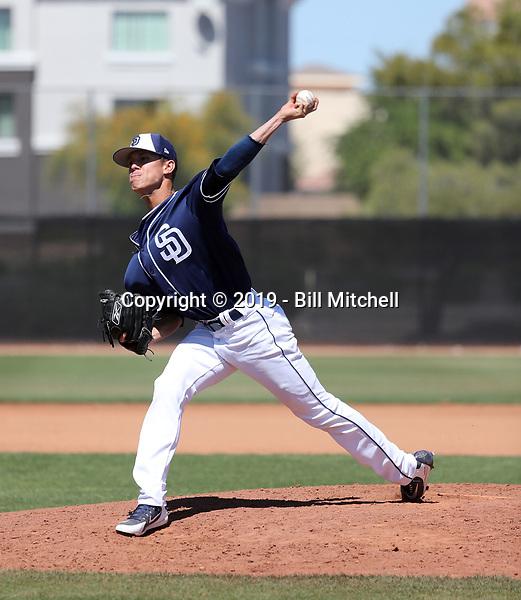 Noel Vela - San Diego Padres 2019 spring training (Bill Mitchell)