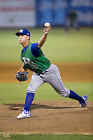 Lexington Legends relief pitcher Mark McCoy (22) in action against the Kannapolis Intimidators at Kannapolis Intimidators Stadium on July 14, 2016 in Kannapolis, North Carolina.  The Kannapolis Intimidators defeated the Lexington Legends 4-2.  (Brian Westerholt/Four Seam Images)