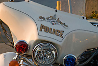 Los Angeles Police motorcycle shot as the sun was setting
