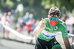 Green Jersey Fabio Jakobsen (NED) Deceuninck Quick-Step heads to sign on before the start of Stage 11 of La Vuelta d'Espana 2021, running 133.6km from Antequera to Valdepeñas de Jaén, Spain. 25th August 2021.     <br /> Picture: Unipublic/Charly Lopez | Cyclefile<br /> <br /> All photos usage must carry mandatory copyright credit (© Cyclefile | Charly Lopez/Unipublic)
