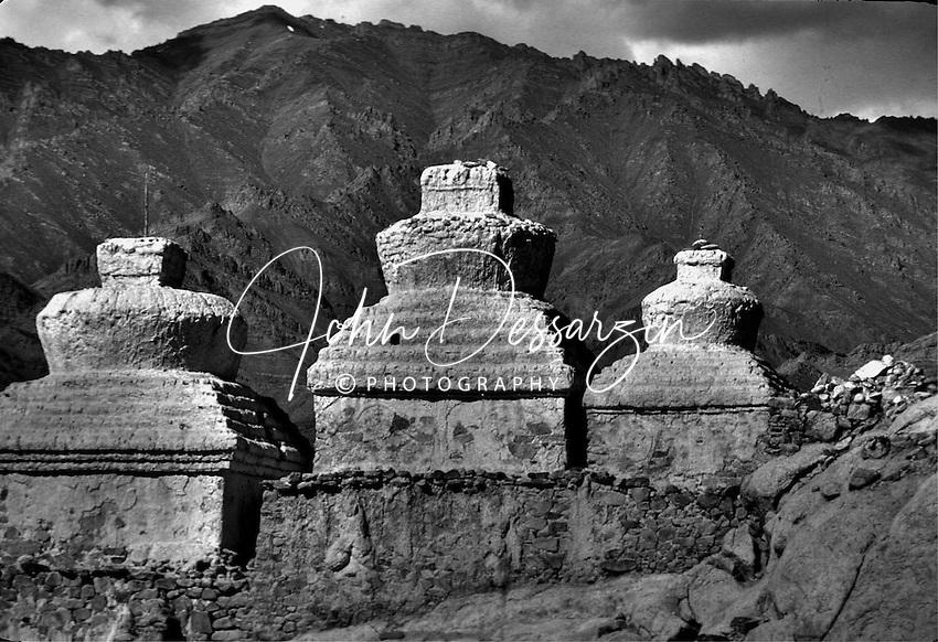 Chortens or Cemetery Leh Ladakh Jammu Kashmir