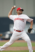 July 11 2009: Jorge Arrioja of the Vancouver Canadians during game against the Boise Hawks at Nat Bailey Stadium in Vancouver,BC..Photo by Larry Goren/Four Seam Images
