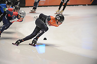 SPEEDSKATING: DORDRECHT: 06-03-2021, ISU World Short Track Speedskating Championships, SF 5000m Relay, Jens van 't Wout (NED), ©photo Martin de Jong