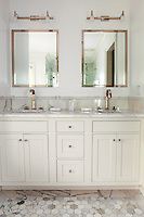 Washstand with white cabinets
