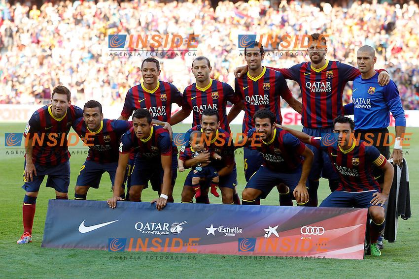 Equipe Barcelone<br /> Football Calcio 2013/2014 <br /> Spagna La Liga<br /> Foto Panoramic / Insidefoto
