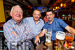 Noel Commerford, Michael Ahern and Edward Kennedy enjoying the evening in the Brogue Inn on Saturday.