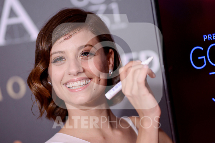 Michelle Jenner attends to the Red Carpet of the Goya Awards 2017 at Madrid Marriott Auditorium Hotel in Madrid, Spain. February 04, 2017. (ALTERPHOTOS/BorjaB.Hojas)