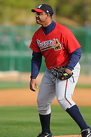 17 March 2009: Rafael Cruz of the Atlanta Braves at Spring Training camp at Disney's Wide World of Sports in Lake Buena Vista, Fla. Photo by:  Tom Priddy/Four Seam Images