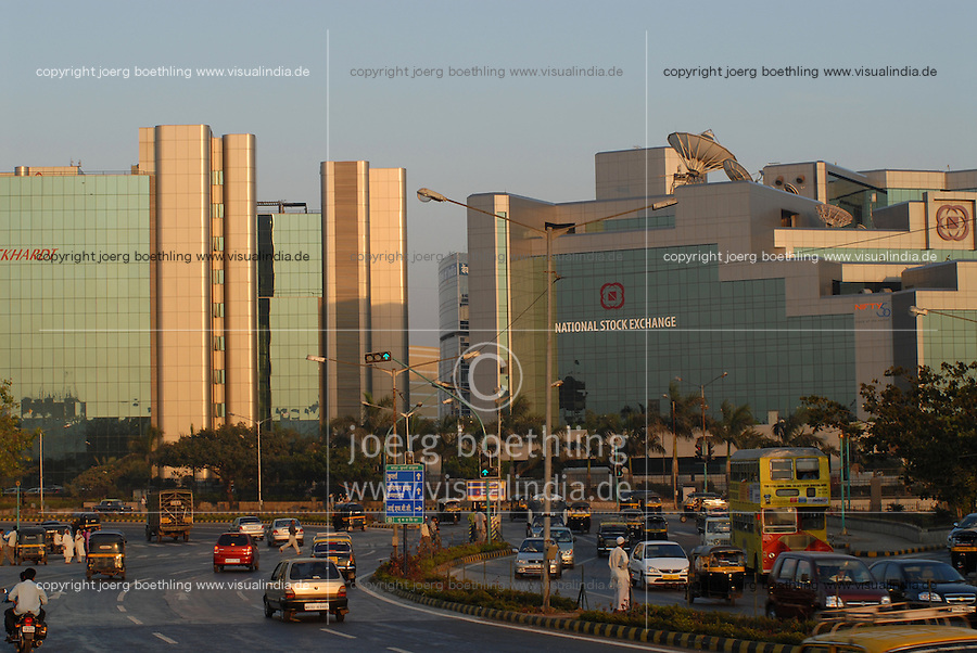 INDIA, Mumbai, business and finance complex Bandra-Kurla, National Stock exchange / INDIEN, Mumbai, Finanz und Business Komplex Bandra-Kurla
