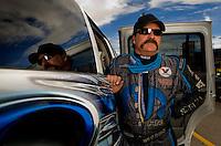 Oct. 31, 2008; Las Vegas, NV, USA: NHRA funny car driver Gary Scelzi during qualifying for the Las Vegas Nationals at The Strip in Las Vegas. Mandatory Credit: Mark J. Rebilas-