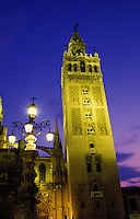 Spain, Seville. Andalucia.  The Giralda Tower.