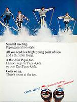 The Pepsi Generation ski ad, BBDO, 1966. Photo by John G. Zimmerman.