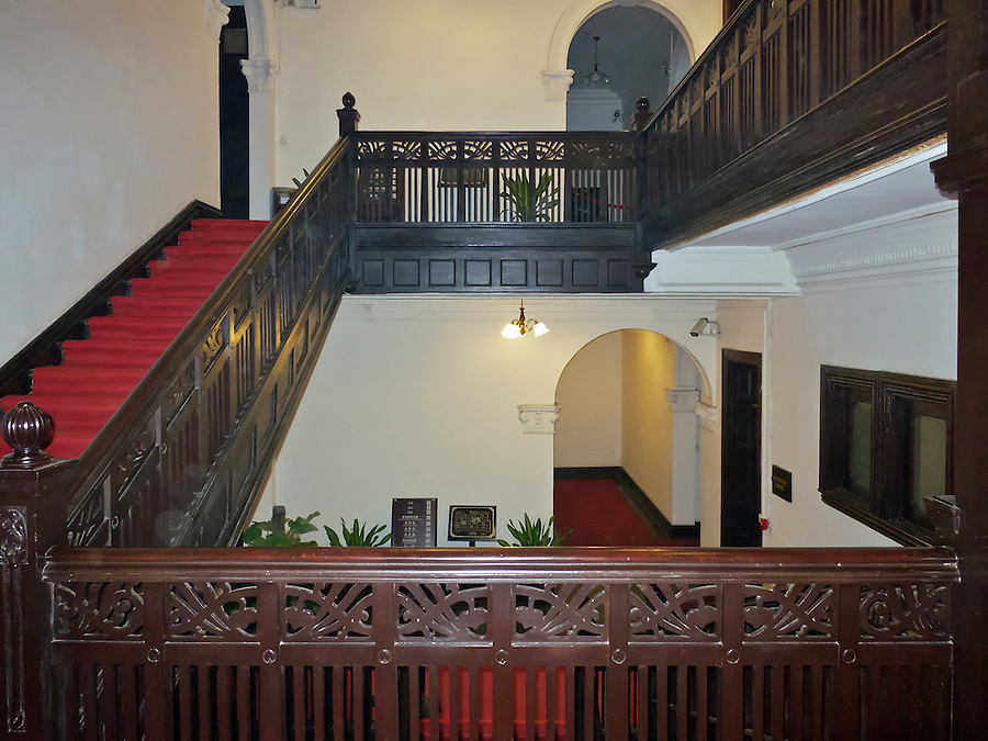 Central Internal Staircase, Staff Quarters, Imperial Maritime Customs (1908), 2-6 Main Street, Shamian (Shameen) Island.