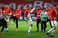24th March 2021; Leuven, Belgium; Youri Tielemans of Belgium warms up during the World Cup Qatar 2022 Qualifiers Match between Belgium and Wales on March 24, 2021 in Leuven, Belgium