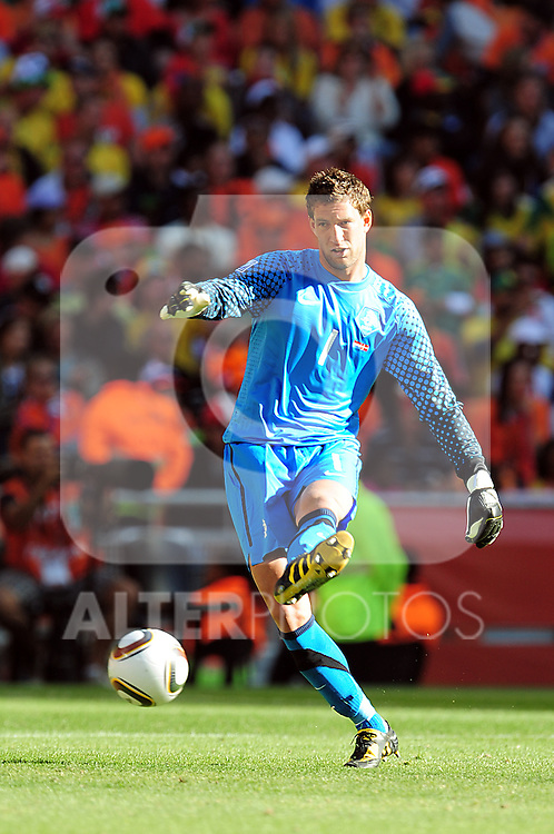 1 Maarten STEKELENBURG during the 2010 World Cup Soccer match between Denmark and Nederland played at Soccer City Stadium in Johannesburg South Africa on 14 June 2010.