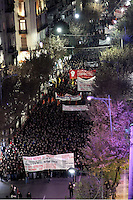 Riots between people and police in Salonika, on the 43rd anniversary of the Polytechnic Uprising which marked the end of the dictatorship in Greece. Thursday 17 November 2016