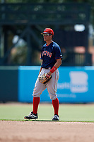 GCL Red Sox second baseman Daniel Bakst (48) during a Gulf Coast League game against the GCL Orioles on July 29, 2019 at Ed Smith Stadium in Sarasota, Florida.  GCL Red Sox defeated the GCL Pirates 9-1.  (Mike Janes/Four Seam Images)