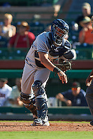 Surprise Saguaros catcher Gary Sanchez (78) throws down to third during an Arizona Fall League game against the Scottsdale Scorpions on October 22, 2015 at Scottsdale Stadium in Scottsdale, Arizona.  Surprise defeated Scottsdale 7-6.  (Mike Janes/Four Seam Images)