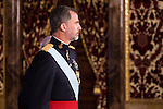 Ambassador of Lituania SRA. Skaiste Aniuliene present his credentials to King Felipe VI of Spain during royal audiences at Real Palace in Madrid, July 27, 2015. <br /> (ALTERPHOTOS/BorjaB.Hojas)