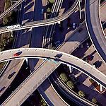 Jacksonville Skyway; Jacksonville Transportation Authority; JTA; Acosta Bridge; Riverside Ave. helicopter aerial