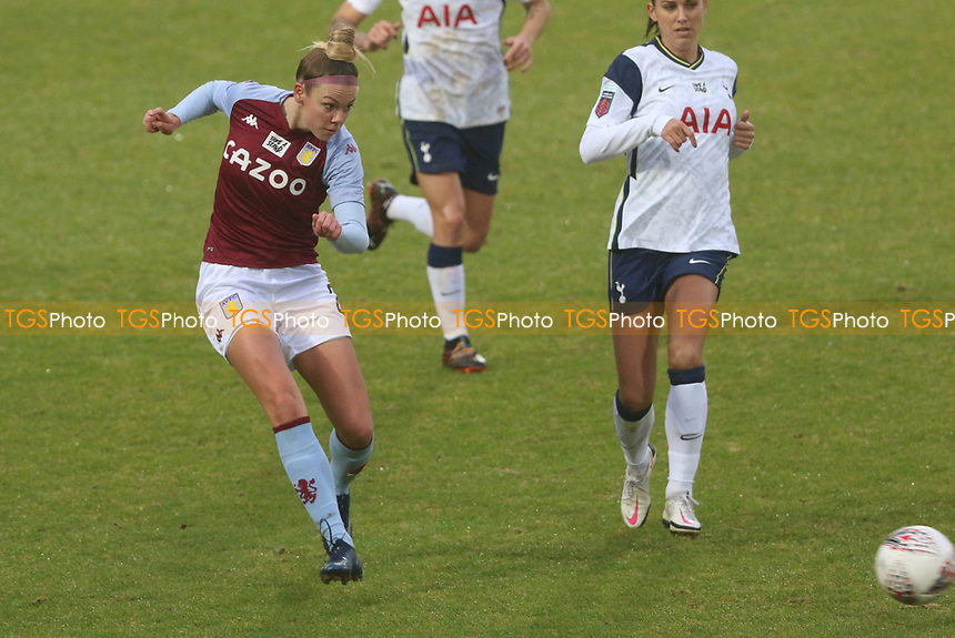 Nadine Hanssen of Aston Villa pass the ball during Tottenham Hotspur Women vs Aston Villa Women, Barclays FA Women's Super League Football at the Hive Stadium on 13th December 2020