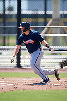 Atlanta Braves Mason Berne (36) during a Minor League Extended Spring Training game against the Tampa Bay Rays on April 15, 2019 at CoolToday Park Training Complex in North Port, Florida.  (Mike Janes/Four Seam Images)