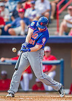 3 March 2016: New York Mets first baseman Marc Krauss in action during a Spring Training pre-season game against the Washington Nationals at Space Coast Stadium in Viera, Florida. The Mets fell to the Nationals 9-4 in Grapefruit League play. Mandatory Credit: Ed Wolfstein Photo *** RAW (NEF) Image File Available ***