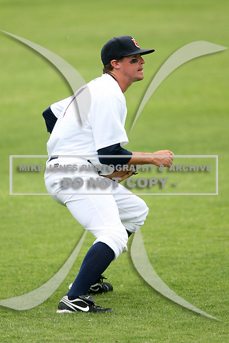 April 15, 2009:  Left fielder Lee Haydel of the Brevard County Manatees, Florida State League Class-A affiliate of the Milwaukee Brewers, during a game at Space Coast Stadium in Viera, FL.  Photo by:  Mike Janes/Four Seam Images
