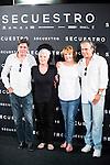 "Antonio Dechent, the director of the film Mar Targarona, Blanca Portillo and Jose Coronado during the presentation of the spanish film ""Secuestro"" in Madrid. July 27. 2016. (ALTERPHOTOS/Borja B.Hojas)"