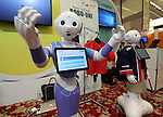 July 20, 2016, Tokyo, Japan - Softbank's humanoid robot Pepper wears wrapping sticker for his clothes, designed by iJet at a press preview of the Pepper World exhibition in Tokyo on Wednesday, July 20, 2016. Pepper's latest applications and accessories will be exhibited at the Pepper World robot exhibition on July 21 and 22.      (Photo by Yoshio Tsunoda/AFLO)