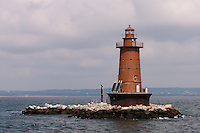 West Bank Lighthouse located in Lower New York Bay