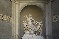 Gruppo del Laocoonte<br /> CoviTime.<br /> Musei Vaticani al tempo del Coronavirus.<br /> Vatican Museum at the time of the Coronavirus.