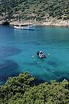 .Bisevo Island.Cruise in Croatia. Island of Dalmatia.