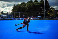 NZ's Steph Dickins warms up during the Sentinel Homes Trans Tasman Series hockey match between the New Zealand Black Sticks Women and the Australian Hockeyroos at Massey University Hockey Turf in Palmerston North, New Zealand on Sunday, 30 May 2021. Photo: Dave Lintott / lintottphoto.co.nz