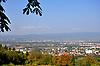 Blick vom Westerberg über Ingelheim auf den Rheingau und Taunus