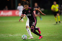 LAKE BUENA VISTA, FL - JULY 27: Xavier Arreaga #3 of the Seattle Sounders dribbles the ball during a game between Seattle Sounders FC and Los Angeles FC at ESPN Wide World of Sports on July 27, 2020 in Lake Buena Vista, Florida.
