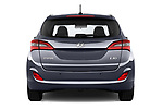 Straight rear view of 2015 Hyundai I30 Go 5 Door Wagon Rear View  stock images
