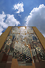 Hesburgh Library mural, a.k.a. Touchdown Jesus.<br /> <br /> Photo by Matt Cashore/University of Notre Dame