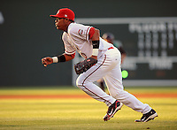 Infielder Reynaldo Rodriguez (47) of the Greenville Drive in a game on June 7, 2010, at Fluor Field at the West End in Greenville, S.C. Photo by: Tom Priddy/Four Seam Images