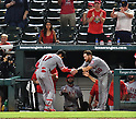 MLB: Los Angeles Angels pitcher Shohei Ohtani during a game against Texas Rangers
