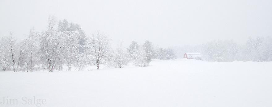 Snowfall in Nottingham, NH