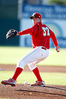 July 4, 2009:  Pitcher Tyler Lavigne of the Batavia Muckdogs delivers a pitch during a game at Dwyer Stadium in Batavia, NY.  The Muckdogs are the NY-Penn League Short-Season Class-A affiliate of the St. Louis Cardinals.  Photo By Mike Janes/Four Seam Images