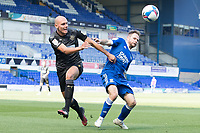 Kai Naismith, Wigan Athletic,  gets to grips with Alan Judge of Ipswich Town for the ball during Ipswich Town vs Wigan Athletic, Sky Bet EFL League 1 Football at Portman Road on 13th September 2020