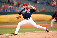 Memphis Redbirds pitcher Tim Cooney (37) delivers a pitch during a game against the Oklahoma City RedHawks on May 23, 2014 at AutoZone Park in Memphis, Tennessee.  Oklahoma City defeated Memphis 12-10.  (Mike Janes/Four Seam Images)