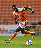 Blackpool's Beryly Lubala<br /> <br /> Photographer Dave Howarth/CameraSport<br /> <br /> EFL Trophy - Northern Section - Group G - Blackpool v Leeds United U21 - Wednesday 11th November 2020 - Bloomfield Road - Blackpool<br />  <br /> World Copyright © 2020 CameraSport. All rights reserved. 43 Linden Ave. Countesthorpe. Leicester. England. LE8 5PG - Tel: +44 (0) 116 277 4147 - admin@camerasport.com - www.camerasport.com